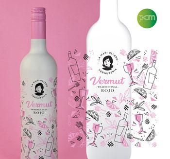 Décoration des bouteilles de Vermouth La Mari Ollero