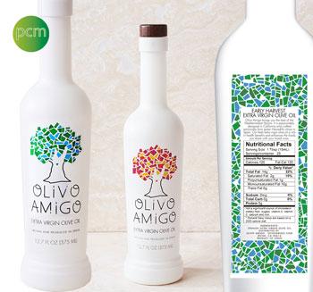 Décoration écologique des bouteilles d'Olivo Amigo
